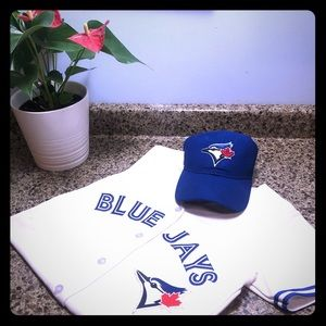 Toronto Blue Jays Jersey & Baseball Hat Set